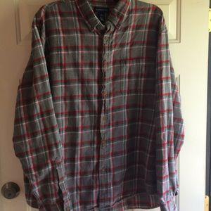 Lands' End XL Mens Flannel Shirt LS Cotton